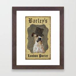 Barley's London Porter Framed Art Print