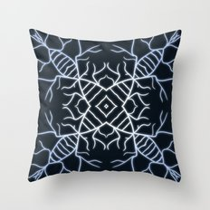 Diatom Snowflake Throw Pillow
