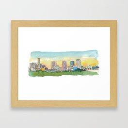 Birmingham Skyline at Sunset Framed Art Print