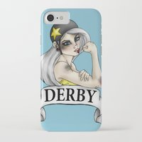 roller derby iPhone & iPod Cases featuring Roller Derby  by Hungry Designs