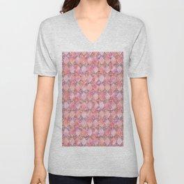 Luxury Gold and Pink Glitter effect oriental pattern Unisex V-Neck