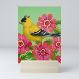 Royal Goldfinch Mini Art Print