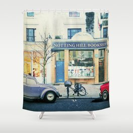 Notting Hill travel movie art Shower Curtain