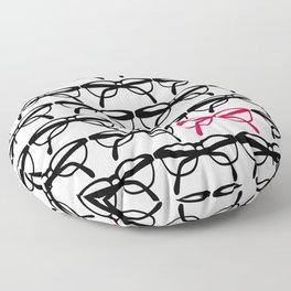 Optometrist Eye Glasses Black Pattern Print Floor Pillow