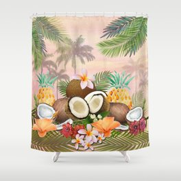 Hawaian Coconut Delight Shower Curtain