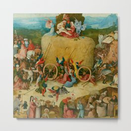 "Hieronymus Bosch ""The Haywain Triptych"" central wing Metal Print"