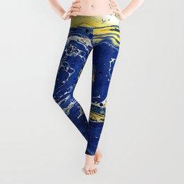 Starry Night Wave #abstract #decor #society6 #buyart Leggings