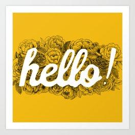 Hello Yellow! Art Print