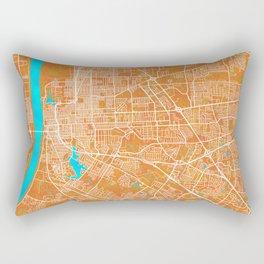 Baton Rouge, LA, USA, Gold, Blue, City, Map Rectangular Pillow