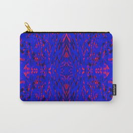 blue on red symmetry Carry-All Pouch