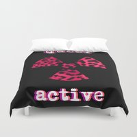 queer Duvet Covers featuring Queer Active by Stranger In Parts