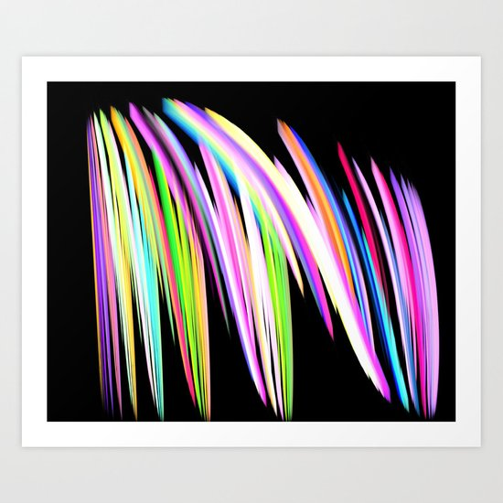Crayon Scribble Drawing : Rainbow crayon scribble art print by leatherwood design