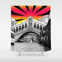 venice Shower Curtains featuring Venice by Tisha Jordan Scott