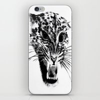 snow leopard iPhone & iPod Skins featuring Snow Leopard by pbnevins