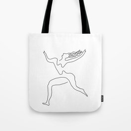 One line Picasso variant (with hair) Tote Bag