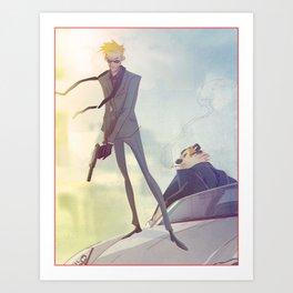 Secret Agent Calvin Hobbes Art Print