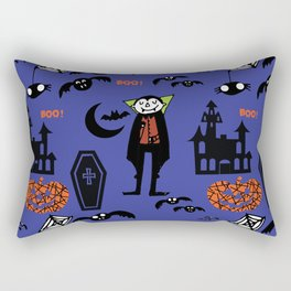 Cute Dracula and friends blue #halloween Rectangular Pillow
