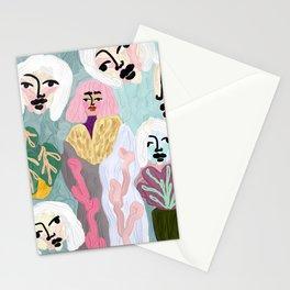Morena, Original artwork, spring colors, girl, face Stationery Cards