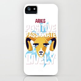 Aries Zodiac Horoscope Ram Spirit Animal iPhone Case