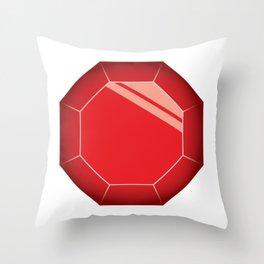 Ruby Illusration Throw Pillow