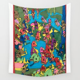 Piranha Place Wall Tapestry