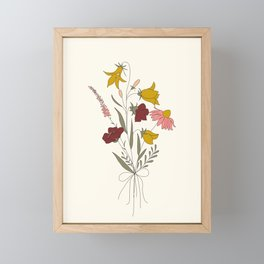 Wildflowers Bouquet Framed Mini Art Print
