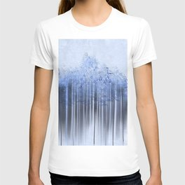 Shredded Abstract in Blue T-shirt