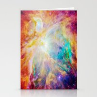 nebula Stationery Cards featuring nEBula : Colorful Orion Nebula by 2sweet4words Designs
