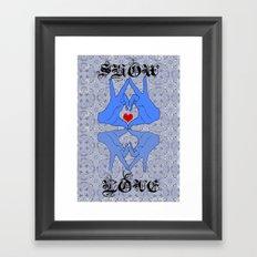 Show some love Framed Art Print