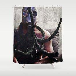 Gas Mask Medusa Shower Curtain