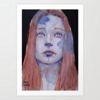 redhead Art Prints featuring Redhead by SirScm