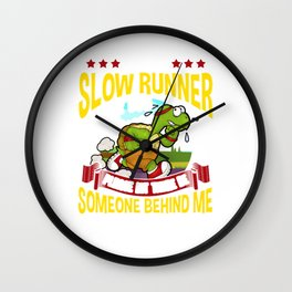 Slow Runner Please Let There Be Someone Behind Me Wall Clock