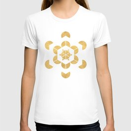 HEXAHEDRON CUBE sacred geometry T-shirt