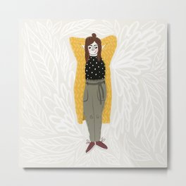 Favorite cosy fall outfit Metal Print