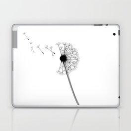 Dandelion Black and White Laptop & iPad Skin