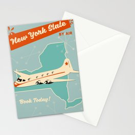 New York State vintage travel poster Stationery Cards