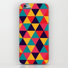 Colorful Triangles (Bright Colors) iPhone Skin