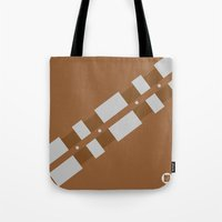 chewbacca Tote Bags featuring Chewbacca by VineDesign