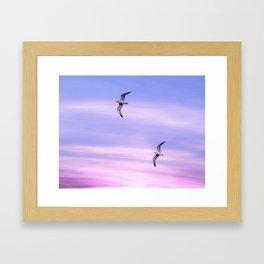 PASTEL FLIGHT Framed Art Print
