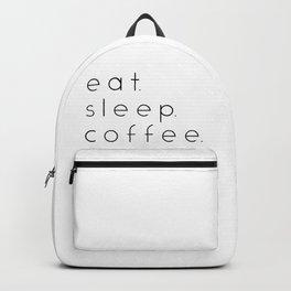 EAT SLEEP COFFEE Backpack