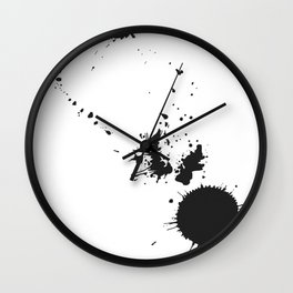 Some Like It Messy Wall Clock