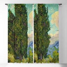 Cypresses Oil Painting Landscape Vincent van Gogh Blackout Curtain