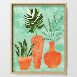 Water My Plants #painting #illustration Serving Tray