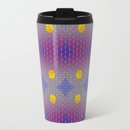 LIBRA sun sign Flower of Life Pattern Travel Mug