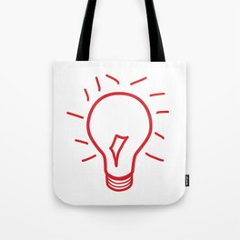 Red Lightbulb  Tote Bag