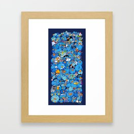 Twitter birds Framed Art Print