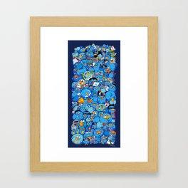 Twitter birds Framed Art Print