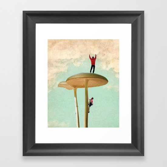 Land of the Giant Mushroom Framed Art Print