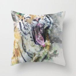 Tiger SR Throw Pillow