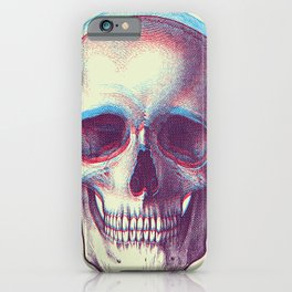 duotone vintage skull iPhone Case